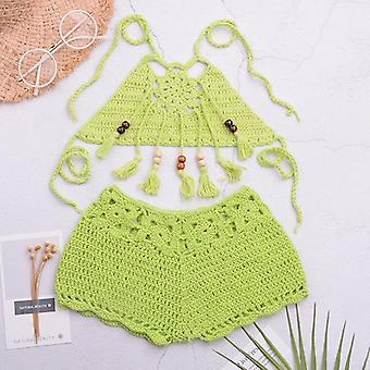 Maillot de bain Baby Crochet, Maillot de bain Tassel Swimwear Strappy