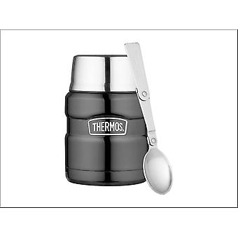 Thermos King Food Flasche Edelstahl Gunmetal 470ml 105053