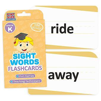 Взгляд Слова Flashcards, Детский сад
