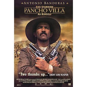 Und mit Pancho Villa als sich Film-Plakat-Druck (27 x 40)