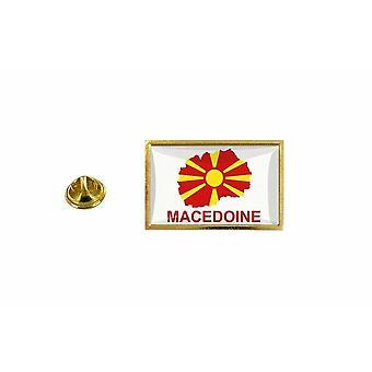 pine pine badge pine pin-apos;s land vlag kaart MK macedoine