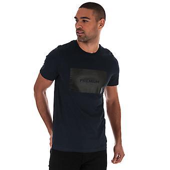 Mænd's Jack Jones Tonal Logo T-shirt i blå
