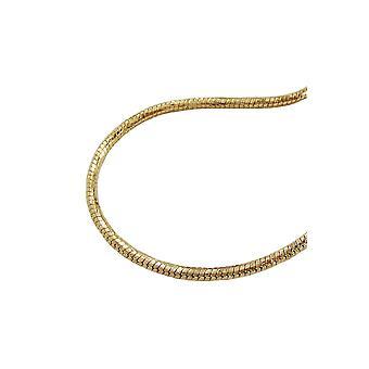 Collana Rotondo Snake Chain Oro Placcato 40cm De No