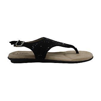 MIA Amore Womens GG2756 Fabric Open Toe Casual T-Strap Sandals