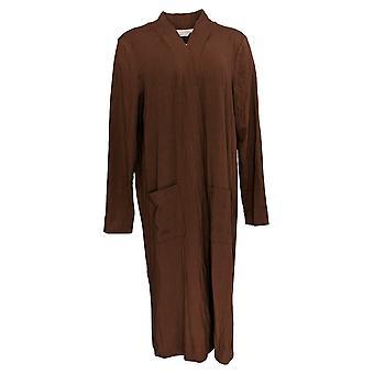 Isaac Mizrahi Live! Frauen's Pullover open Front Cardigan braun A384892