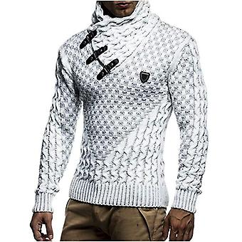 Mens Sweaters Warm Hedging Turtleneck, Pullover Sweater, Man Casual Knitwear,