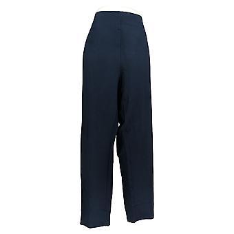 Kelly By Clinton Kelly Women's Plus Pants Straight Leg Ponte Blue A272020