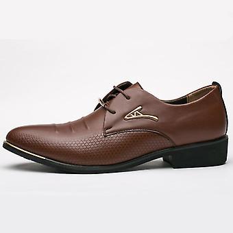 Man's Elbise Patent Deri Siyah Düğün Ayakkabıları A