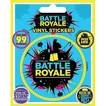 Fortnite Battle Royale Vinyl Infographic Stickers (Pack of 5)