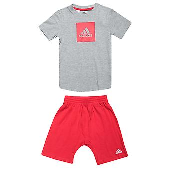 Boy's adidas Baby And Infant Logo Summer Set in Grey
