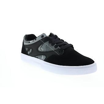 DC Kalis Vulc S Hombres Negro Ante Skate Inspirado Zapatos De zapatillas