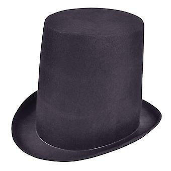 Cappello tubo stufa extra alto 1 nero