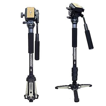 Koolehaoda professional camera monopod and fluid video head with folding three feet support stand, m