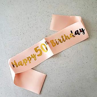 Trvancat 50th birthday sash birthday gifts birthday party accessories (50) 50