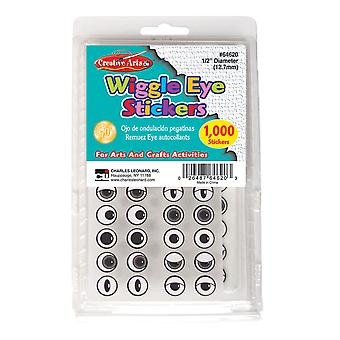 Creative Arts Wiggle Eyes Stickers, Black