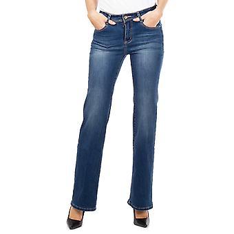 Mediados de los pantalones vaqueros Bootcut de subida - azul