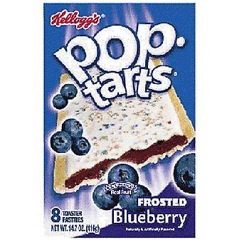 Kellogg's Pop Tarts Frosted Heidelbeere Toaster Gebäck 14,7 Unzen Box