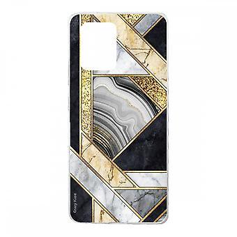 Hülle für Samsung Galaxy S10 Lite Aus Silikon Weich, Schwarz und Golden Marmor