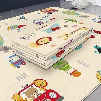 Waterproof Baby Play Mat, Room Decor, Foldable Child Crawling, Double-sided