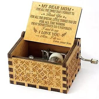 Antique Carved Wooden Music Box My Sunshine Love Dad Decor Anonymous