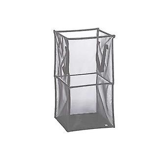Square Foldable Mesh Laundry Basket Large Clothes Hamper Bag With Handles