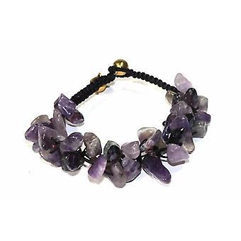 Raw Amethyst Stone Bracelet