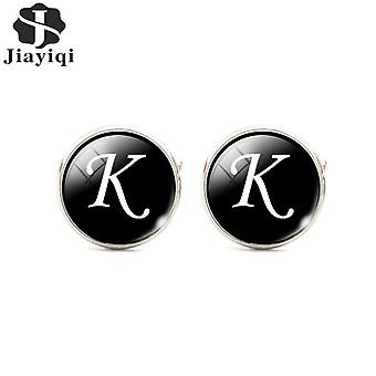 2pcs Trendy Men Alphabet Shirt Cuff Button