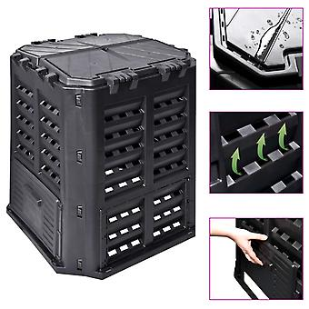L Garden Composter Black 68.9x68.9x83.9 Cm 360 L