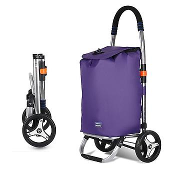Shopping Grocery Foldable Cart With Rolling Swivel Wheels