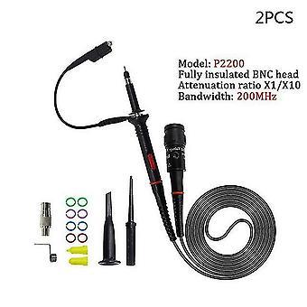 1Aseta korkealaatuinen p6100 oskilloskoopin anturi dc-6mhz dc-100mhz scope clip probe ilmainen toimitus