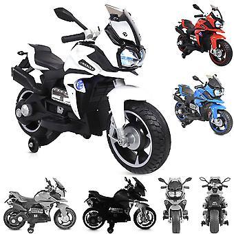 Motocicleta eléctrica infantil Bo Rio R800, función de música, ruedas de apoyo de faros