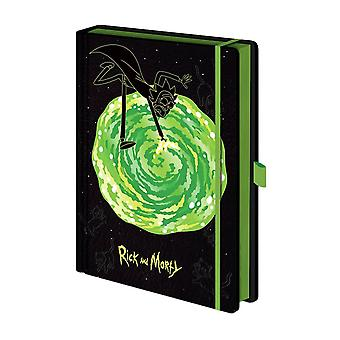Rick and Morty Portal Premium A5 Notebook