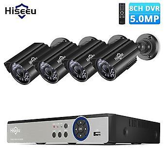 スーパーHD 5MPセキュリティカメラシステム