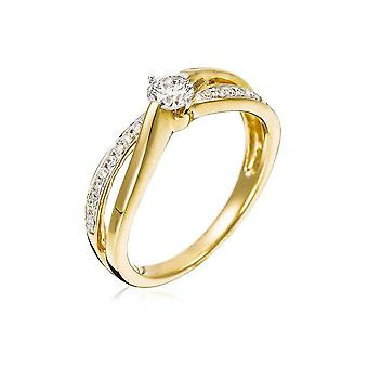 Ring 'Pretty Solitaire' Yellow Gold and Diamonds