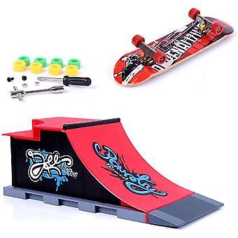 FengChun Mini Finger Skateboard und Ramp Zubehr Set (C)