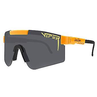 حفرة الافعى الاستقطاب النظارات الشمسية الرياضية UV400 ركوب الدراجات في الهواء الطلق تشغيل النظارات للرجال النساء