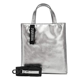 Liebeskind Berlin Damen PaperbS-PaB10M Shopper, Silver lead-9626, Small