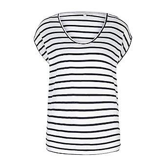 TOM TAILOR Denim 1020368 Loose Fit T-Shirt, Navy White Stripe (25924), X-Large Woman