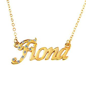 KL Fiona - 18 karan kullattu kaulakoru, säädettävä ketju 16-19 cm, lahjapakkauksessa