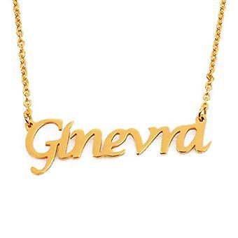 KL Geneve - Naisten kaulakoru nimi, nimi, muodikas jalokivi, lahja tyttöystävälle, äidille, sisko