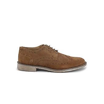 Duca di Morrone - Shoes - Lace-up shoes - 208D-CAMOSCIO-TABACCO - Men - peru - EU 43