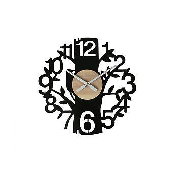 Rebecca Möbler snidade klockklockor Vägg Mdf Brunt Svart Rum 55x55x4.5