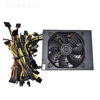 Güç Kaynağı Bilgisayar Rig 8 Gpu Atx Ethereum Coin 12v 4 Pin