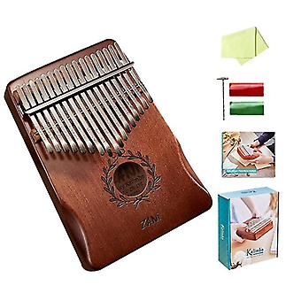 Thumb Piano 17 Keys, Portable Mbira Finger Piano Gifts For Kids And Adults Beginners(Color4)