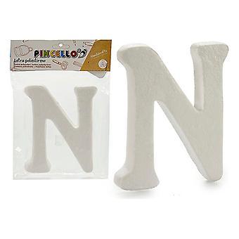 Letter N polystyrene