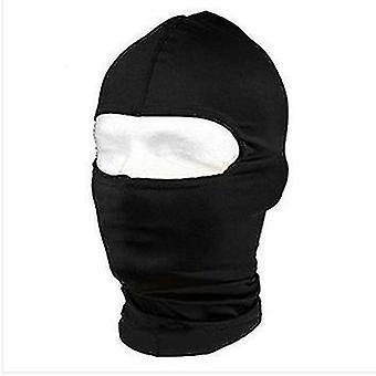 Chapéu de caminhada de seda de leite à prova de vento, Algodão Ninja com Máscara de Balaclava