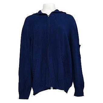 Northstyle Women's Sweater Plus Full Zip Hooded Navy Blue