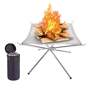 Portable Fire Pit Folding Campfire Stand Barbecue Burning Fire Stove