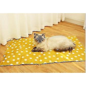 Ispute for sommer og kjølepute for hunder og katter (gul)