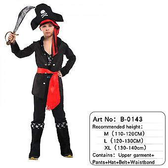 Children's Pirate Costume With Shoes, Hat And Belt Men's And Women's Clothing Pirates Of The Caribbean Captain Set-(b0143)